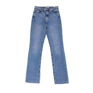 NWT ZARA Slim Fit High Rise Slit Jeans